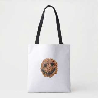 Cute Smiling Fruit and Cereal Face Tote Bag