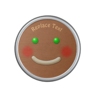 Cute Smiling Gingerbread cookie Speaker