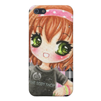 Cute smiling girl in black tshirt iPhone SE/5/5s cover