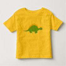 Cute Smiling Green Dinosaur Toddler Tee Shirt