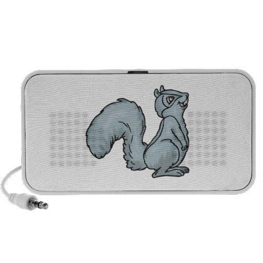 cute smiling grey squirrel speakers