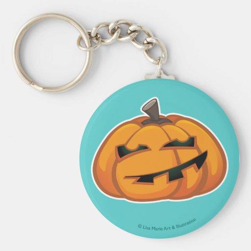 Cute Smiling Halloween Pumpkin Keychain