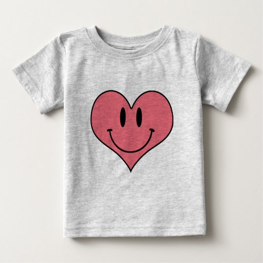 Cute Smiling Heart, Valentine's Love Sweetheart Baby T-Shirt