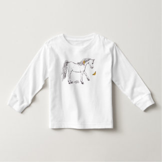Cute smiling Horse with butterfly Shirts