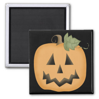 Cute Smiling Jack O'lantern 2 Inch Square Magnet