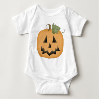 Cute Smiling Jack O'lantern Baby Bodysuit