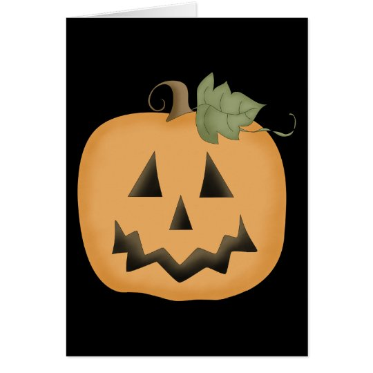 Cute Smiling Jack O'lantern Card