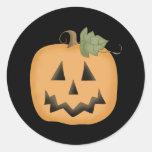Cute Smiling Jack O'lantern Classic Round Sticker
