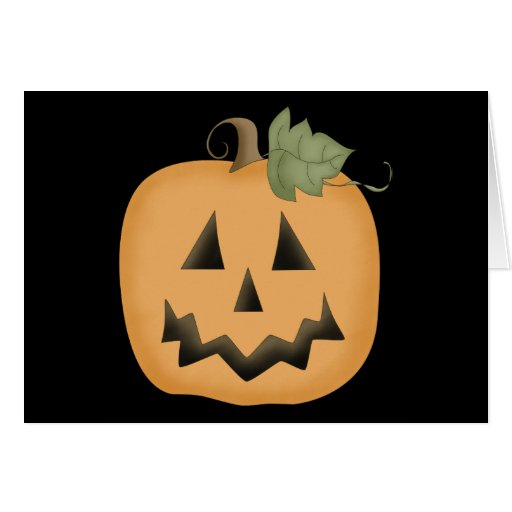 Cute Smiling Jack O'lantern Greeting Cards