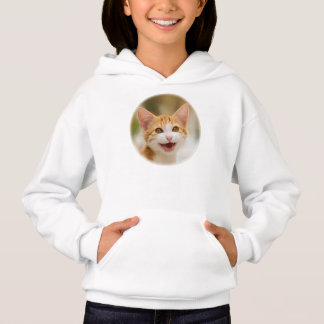 Cute Smiling Kitten Funny Cat Meow, Hoodie