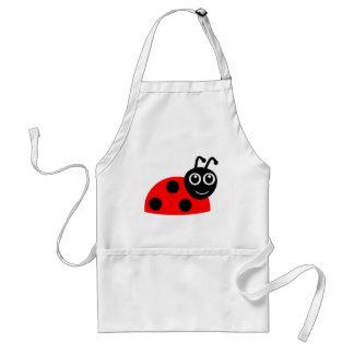 Cute Smiling Ladybug Cartoon Adult Apron
