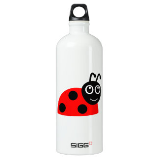 Cute Smiling Ladybug Cartoon Aluminum Water Bottle