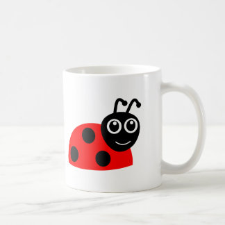 Cute Smiling Ladybug Cartoon Coffee Mug
