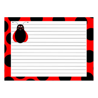 Cute Smiling Ladybug Recipe Card Business Card Templates