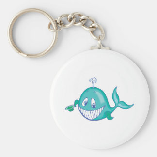 cute smiling little whale keychain