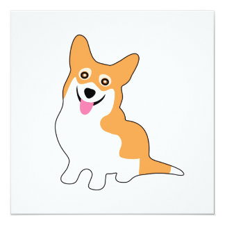 Cute Smiling Pembroke Welsh Corgi Dog Card