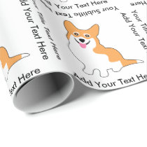 Cute Smiling Pembroke Welsh Corgi Dog Wrapping Paper