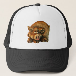 Cute Smiling Pig Trucker Hat