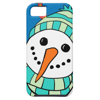 Cute Smiling Snowman iPhone 5 Case