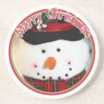 Cute Smiling Snowman Toy Coaster