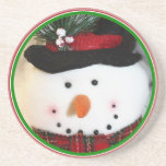Cute Smiling Snowman Toy Coasters