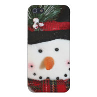 Cute Smiling Snowman Toy Covers For iPhone 5