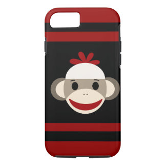 Cute Smiling Sock Monkey iPhone 7 Case