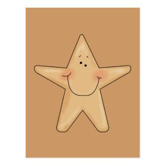 Cute Smiling Star Fish Cartoon Character Design Postcard