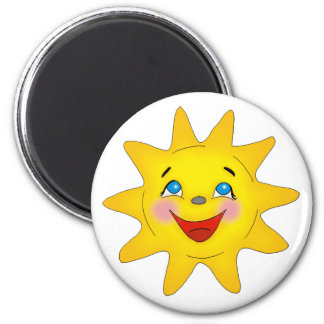 Cute Smiling Sun Magnet