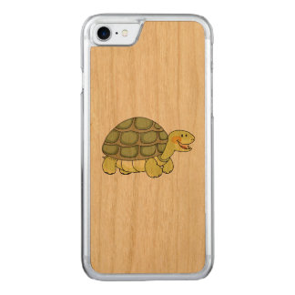 cute smiling tortoise carved iPhone 8/7 case