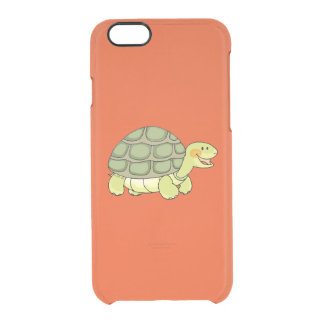 cute smiling tortoise clear iPhone 6/6S case