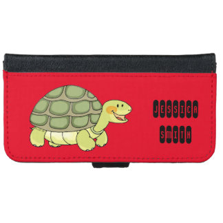 cute smiling tortoise wallet phone case for iPhone 6/6s