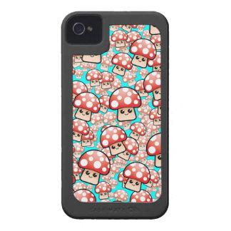 Cute Smiling Vector Mushrooms Case-Mate iPhone 4 Case