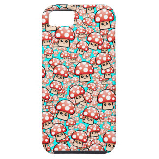 Cute Smiling Vector Mushrooms (editable) iPhone SE/5/5s Case