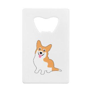 Cute Smiling Welsh Corgi Pup Credit Card Bottle Opener
