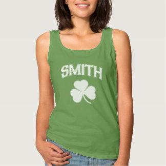Cute Smith Family Irish Shamrock Tank Top