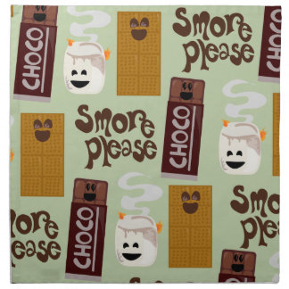 Cute Smore Ingredients Pattern Cloth Napkin