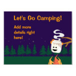 Cute Smores Camping Trip or Party Personalized Invites