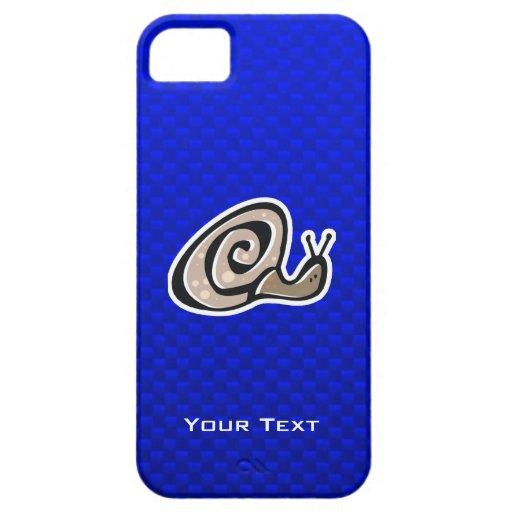 Cute Snail; Blue iPhone 5 Case