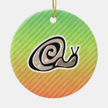 Cute Snail Design Christmas Ornaments