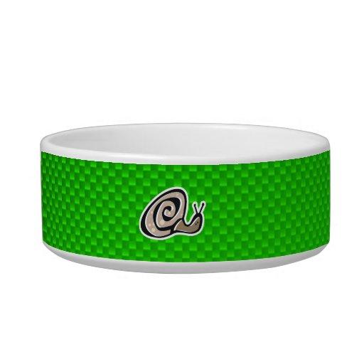 Cute Snail; Green Cat Water Bowl
