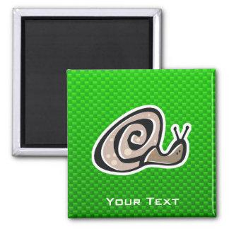 Cute Snail; Green Fridge Magnets
