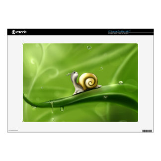 """Cute Snail in the Rain Skins For 15"""" Laptops"""