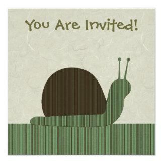 Cute Snail Invitation