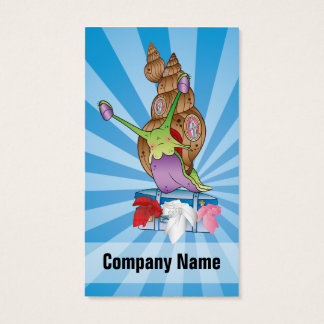 Cute Snail Moving House Business Card
