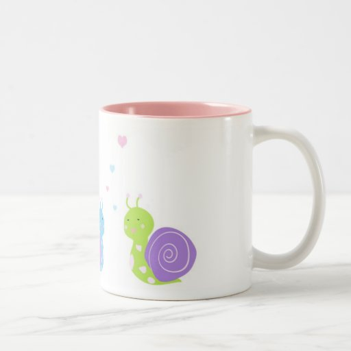 Cute snail mug