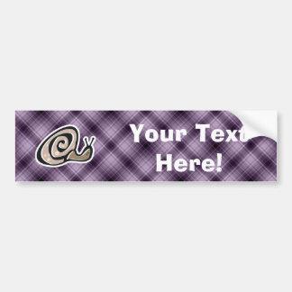 Cute Snail; Purple Bumper Sticker