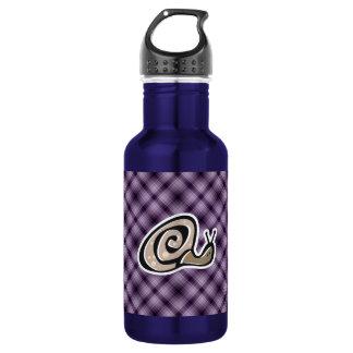 Cute Snail; Purple Water Bottle