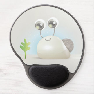 Cute snail with big eyes gel mouse pad
