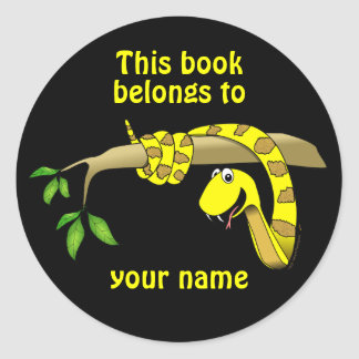 Cute Snake in a Tree Reptile Custom Bookplates